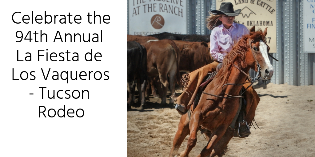 February 16th-24th is the Tucson Rodeo. This is a time honored tradition here in Tucson. You can see all kinds of professional rodeo events at this years La Fiesta de Los Vaqueros! It's the 94th annual Tucson Rodeo and you won't want to miss out on a single second of the madness!